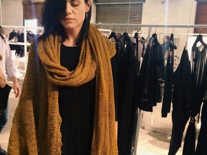 #Dandelion #scarf #ss16 at #pittiuomo #unconventional #peternon @peter_non