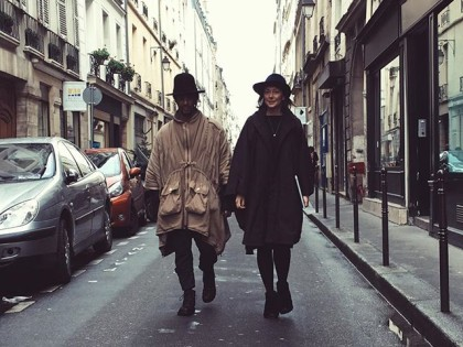 With Harris in rue Charlot #parisfashionweek #paris #paris