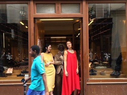 #repost @tmichael_bergen United colours.. #tmichael_bergen, a parisien and #peternon #girls #peternonshowroom #ruecharlot20 #paris #marais @peter_non @silvia_lo_giudice @anitafatimaviero