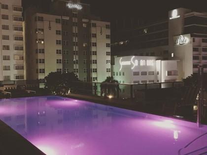 #nightswim #purple #miami #holiday #rooftop